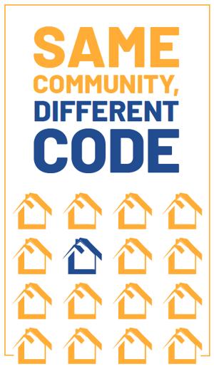Same Community, Different Code